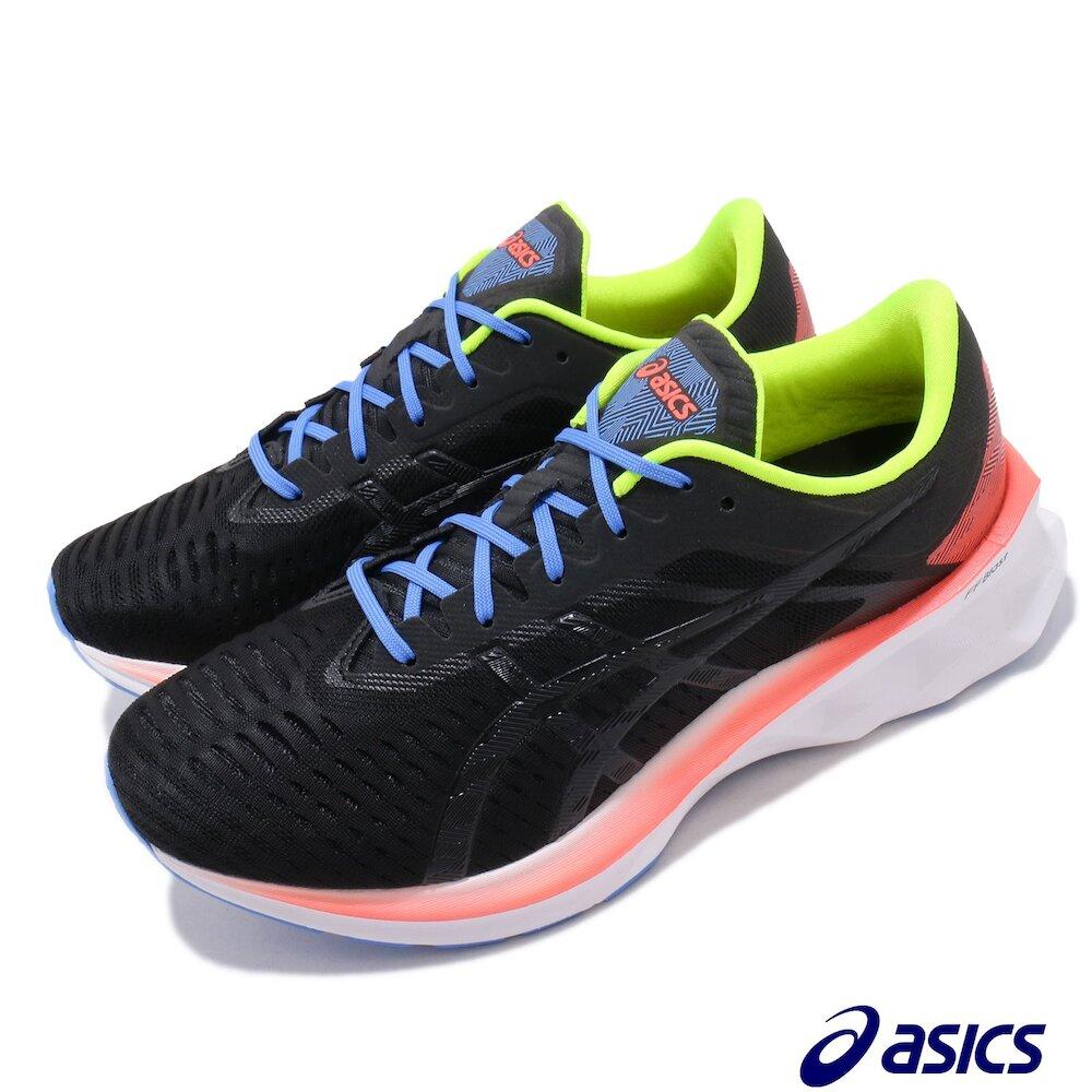 ASICS 慢跑鞋 Novablast 運動休閒 男鞋 亞瑟士 彈力跑鞋 長距離 輕量 穿搭 黑 白 [1011A681001]
