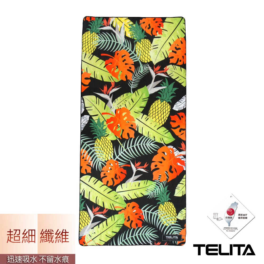 【TELITA】超細纖維日系和風海灘巾-南洋風情 TA6818