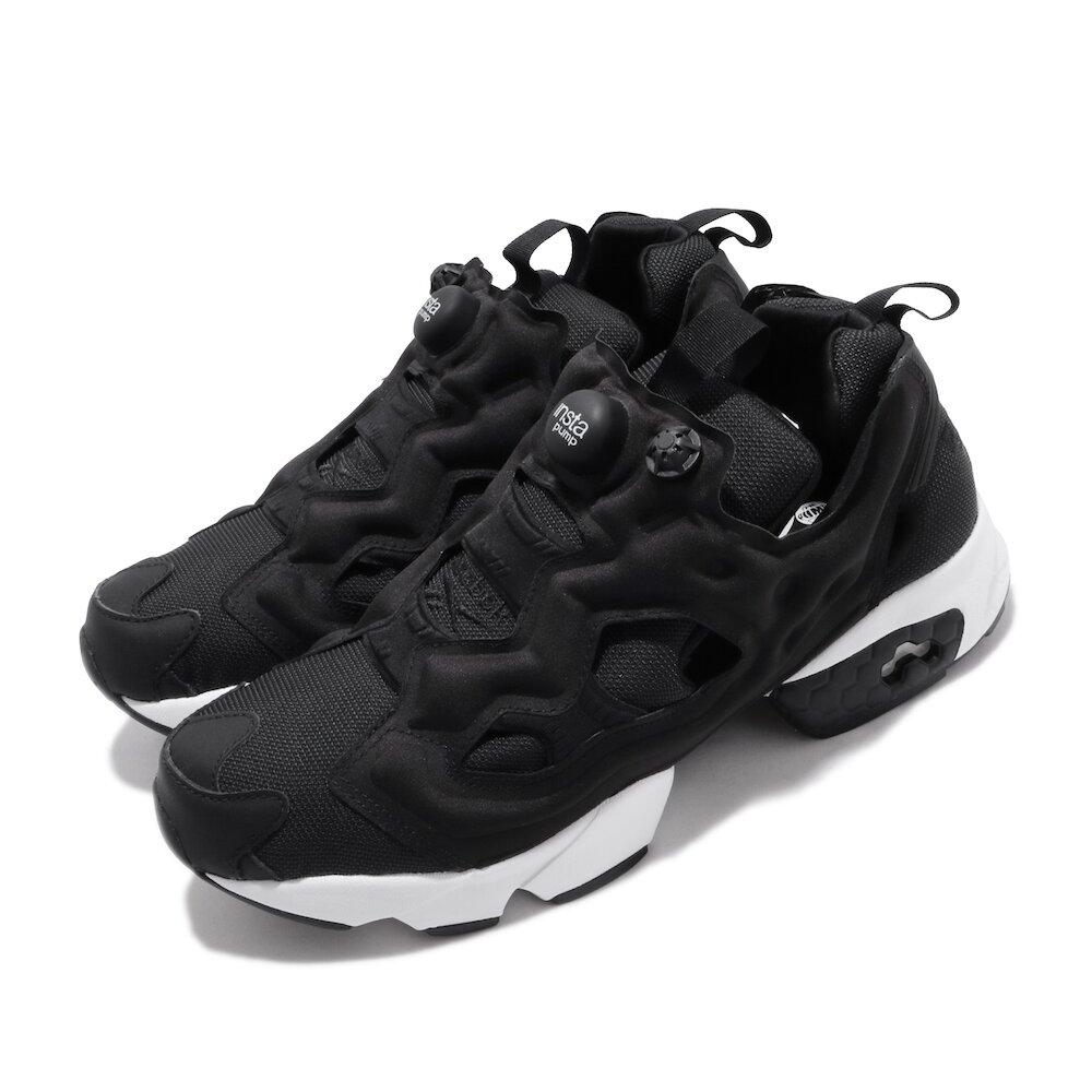 REEBOK 休閒鞋 Instapump Fury 男女鞋 經典款 襪套 充氣科技 情侶鞋 穿搭 黑 白 [DV6985]