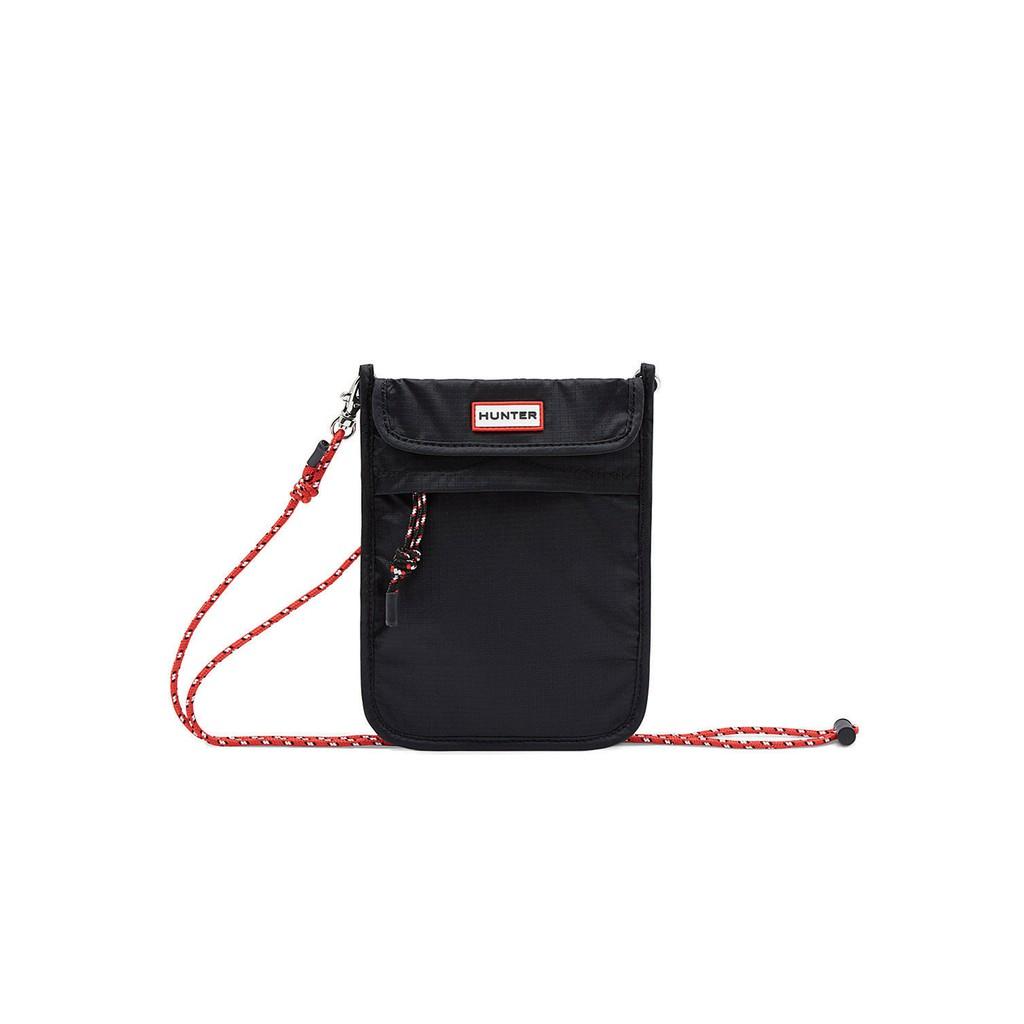 英國 HUNTER ORIGINAL 黑色 可收納尼龍手機包 NO.H3299【新竹皇家 】