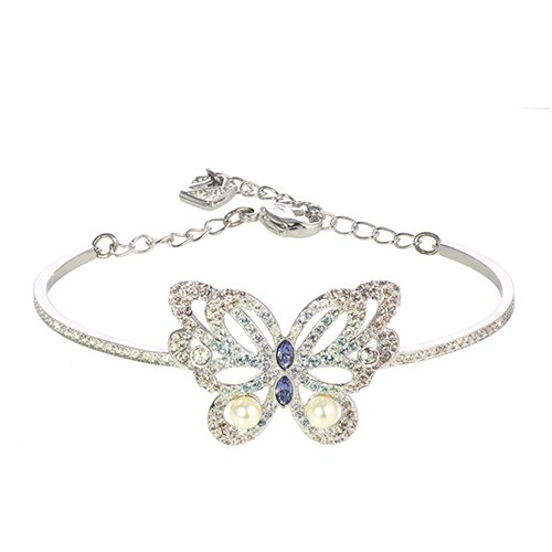 SWAROVSKI施華洛世奇 蝴蝶造型鑲珍珠手環