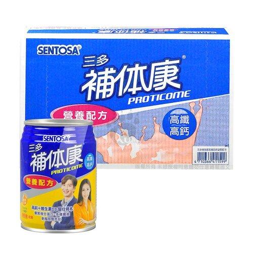 三多 補体康 高纖高鈣營養配方(香草口味) 240ml*24罐/箱 (1箱)