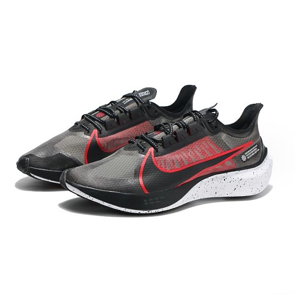 NIKE 慢跑鞋 ZOOM GRAVITY 黑紅 輕量 潑墨底 氣墊 路跑 運動 男(布魯克林) BQ3202-005