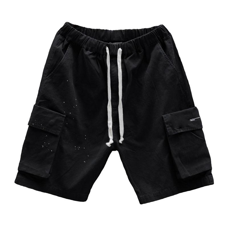 IDEALISM - ID20023-BK WASH SHORT 水洗口袋 短褲 (黑色)