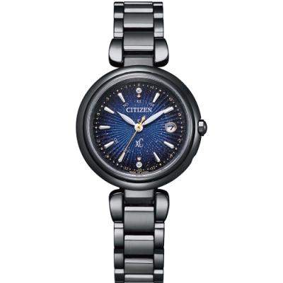 CITIZEN 星辰 xC系列 星空藍浪漫鈦金屬光動能電波錶(ES9466-57L)-29mm