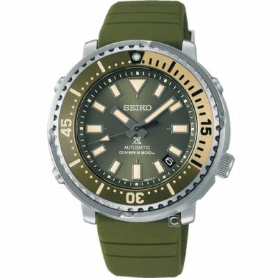 SEIKO 精工 PROSPEX 怒海潛降200米潛水機械錶(4R35-04L0G)SRPF83K1
