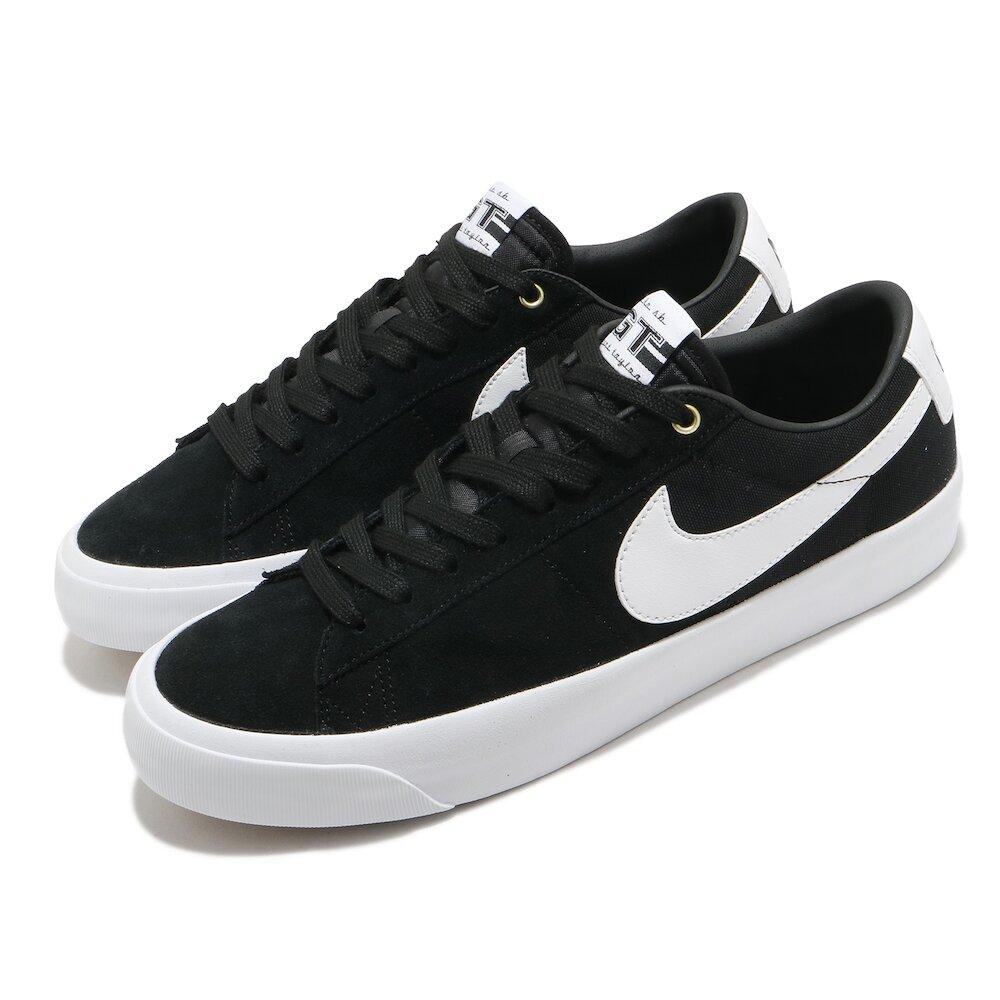 NIKE 滑板鞋 Zoom Blazer 運動 男女鞋 氣墊 避震 SB 簡約 球鞋 情侶穿搭 黑 白 [DC7695-002]