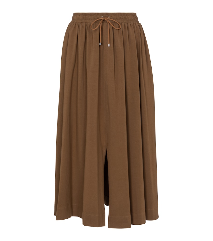 Leisure Radar stretch-cotton midi skirt