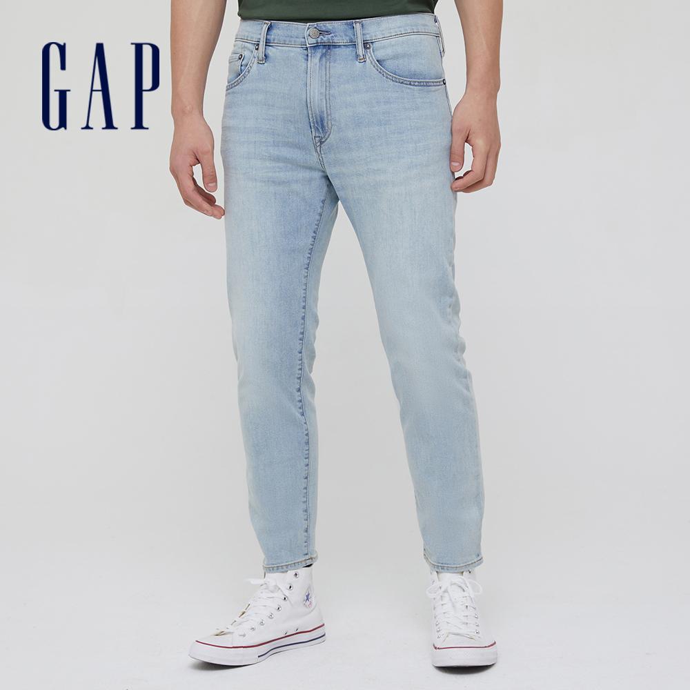 Gap 男裝 淺色水洗五袋直筒牛仔褲 692790-淺靛藍