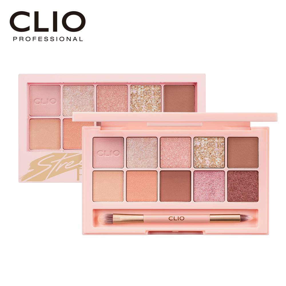 CLIO珂莉奧 璀璨星沙十色眼影盤 06香檳柔粉 【康是美】
