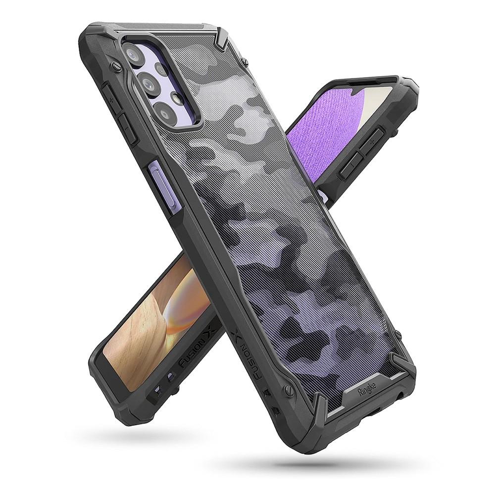 Rearth 三星 Galaxy A32 5G (Ringke Fusion X) 迷彩抗震保護殼