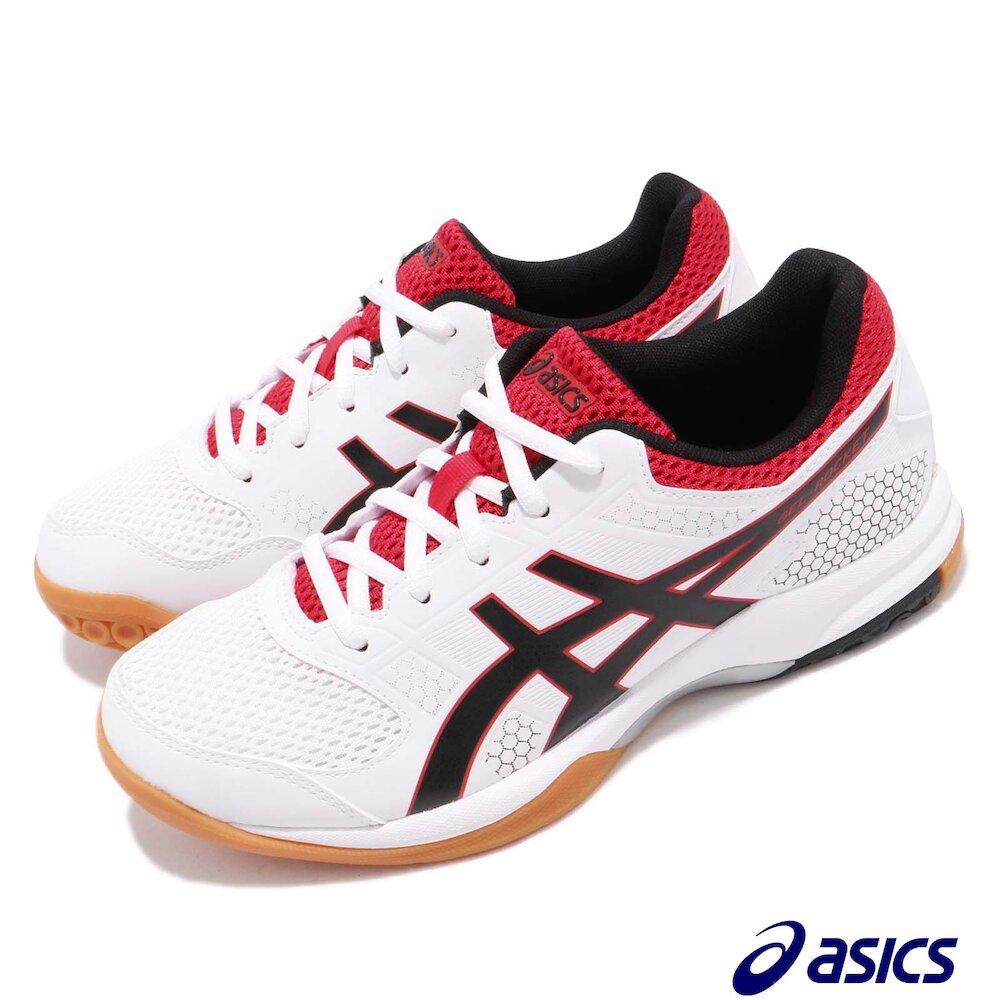 ASICS 排球鞋 Gel-Rocket 8 低筒 女鞋 亞瑟士 高抓地力 緩衝 亞瑟膠 透氣 白 黑 [B756Y125]