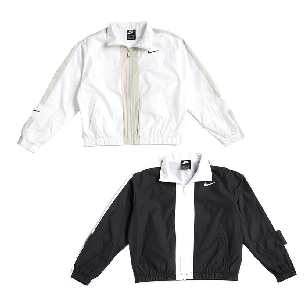 NIKE NSW REPEL 女款 短版 運動 立領 風衣外套 CZ8801-010 黑 100 白