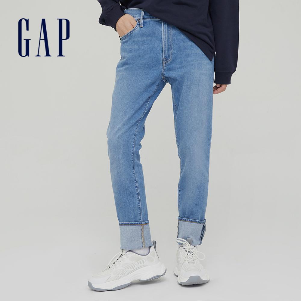 Gap 男裝 時尚中腰修身款牛仔褲 742836-淺靛藍