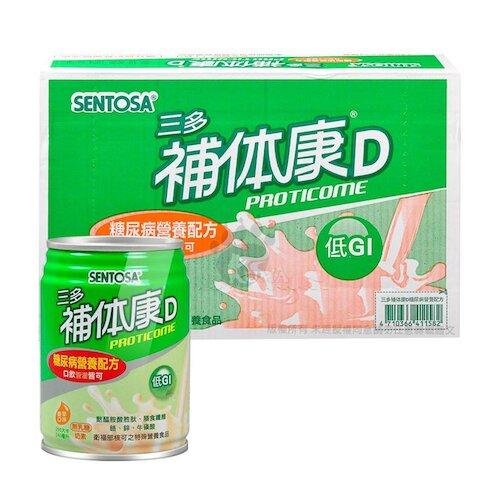 三多 補体康D 糖尿病營養配方(香草口味) 240ml*24罐/箱 (1箱)