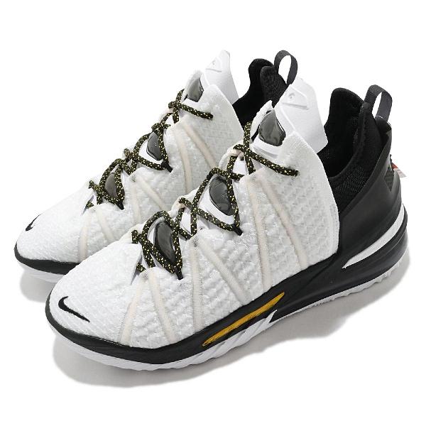 Nike 籃球鞋 Lebron XVIII EP 18 白 黑 金 男鞋 LBJ 十八代【ACS】 CQ9284-100