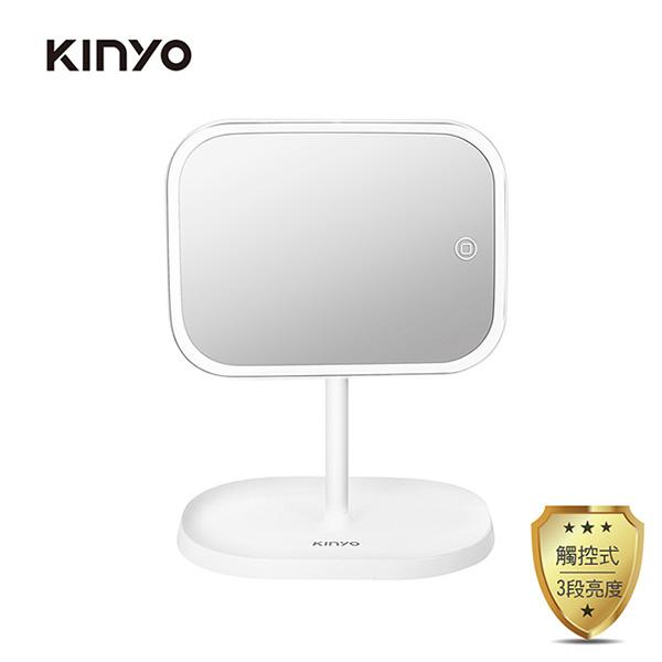 免運 KINYO LED觸控調光化妝鏡 BM-077(電池/USB雙供電) 【2入組】