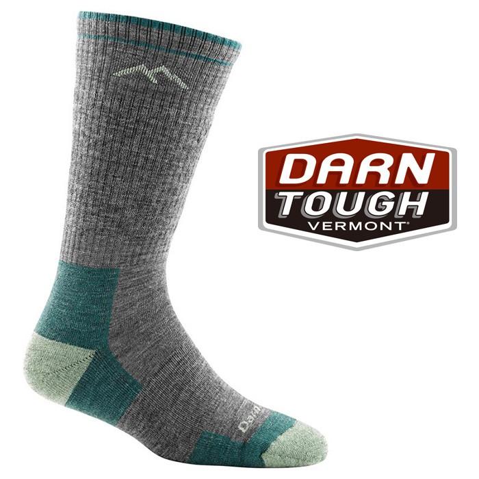 【Darn Tough 美國】HIKER BOOT 羊毛中筒健行襪 羊毛登山襪 戶外襪 女款 石板灰 (1907)