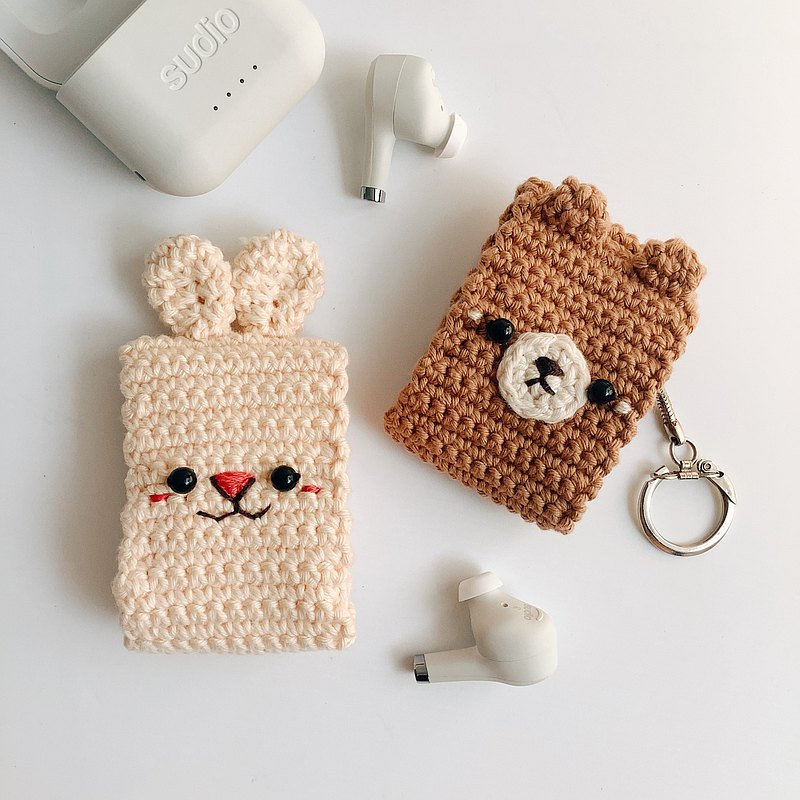 Earpods 鉤針編織包|熊、兔子|可愛保護套,airpods 保護套
