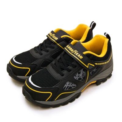 GOODYEAR 固特異 透氣鋼頭防護認證安全工作鞋 極光系列 黑灰黃 03940