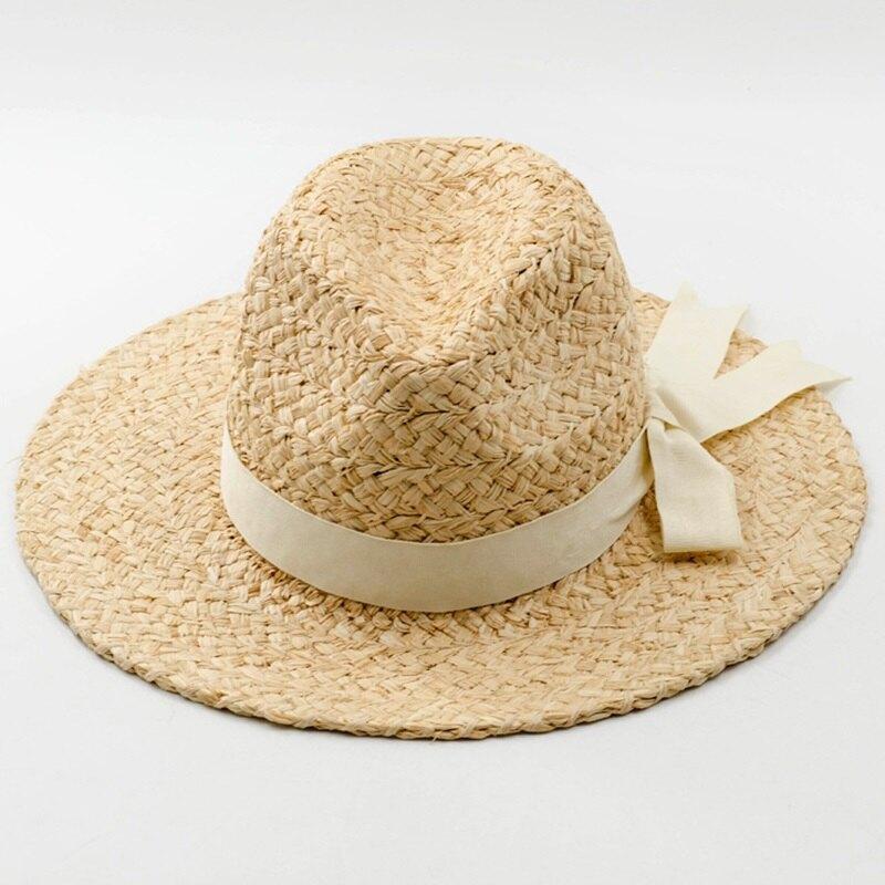 草帽爵士帽-蝴蝶結裝飾手編禮帽女帽子73zr116【獨家進口】【米蘭精品】