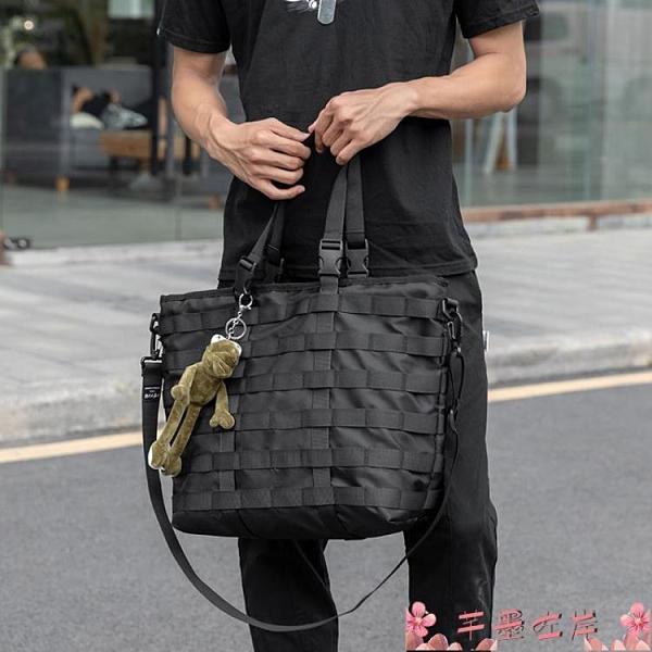 尼龍包日系潮牌簡約側背包機能風男女斜背包尼龍布大容量手提包托特包  芊墨左岸 上新
