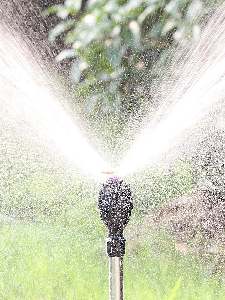 自動澆水器 自動旋轉灑水器360度澆水噴頭園林農業灌溉噴水花園綠化草坪噴灌『XY13839』