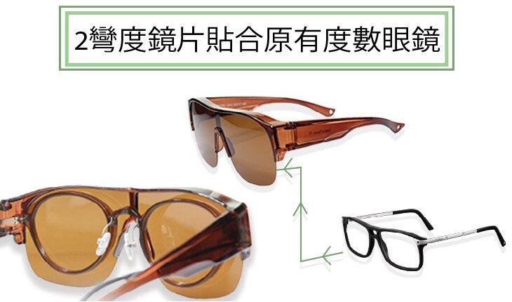 母親節日特價 偏光運動太陽眼鏡 包覆近視眼鏡 景像不失真 防眩光 UV400 UVA UVB 過濾紫外線及強光 寶麗來偏光鏡片 透森藍
