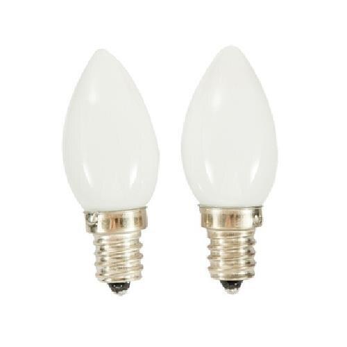 FP LED燭台燈泡-黃光(0.6W/ E12 / 2入) [大買家]