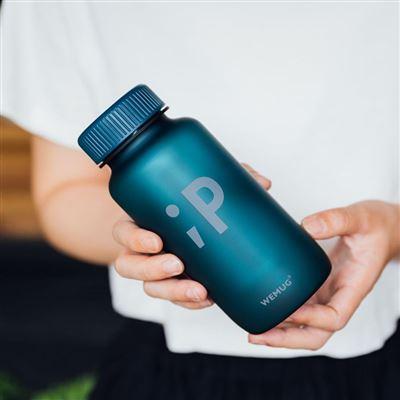 【WEMUG】Water Bottle Emoji 550ml Blue ;P