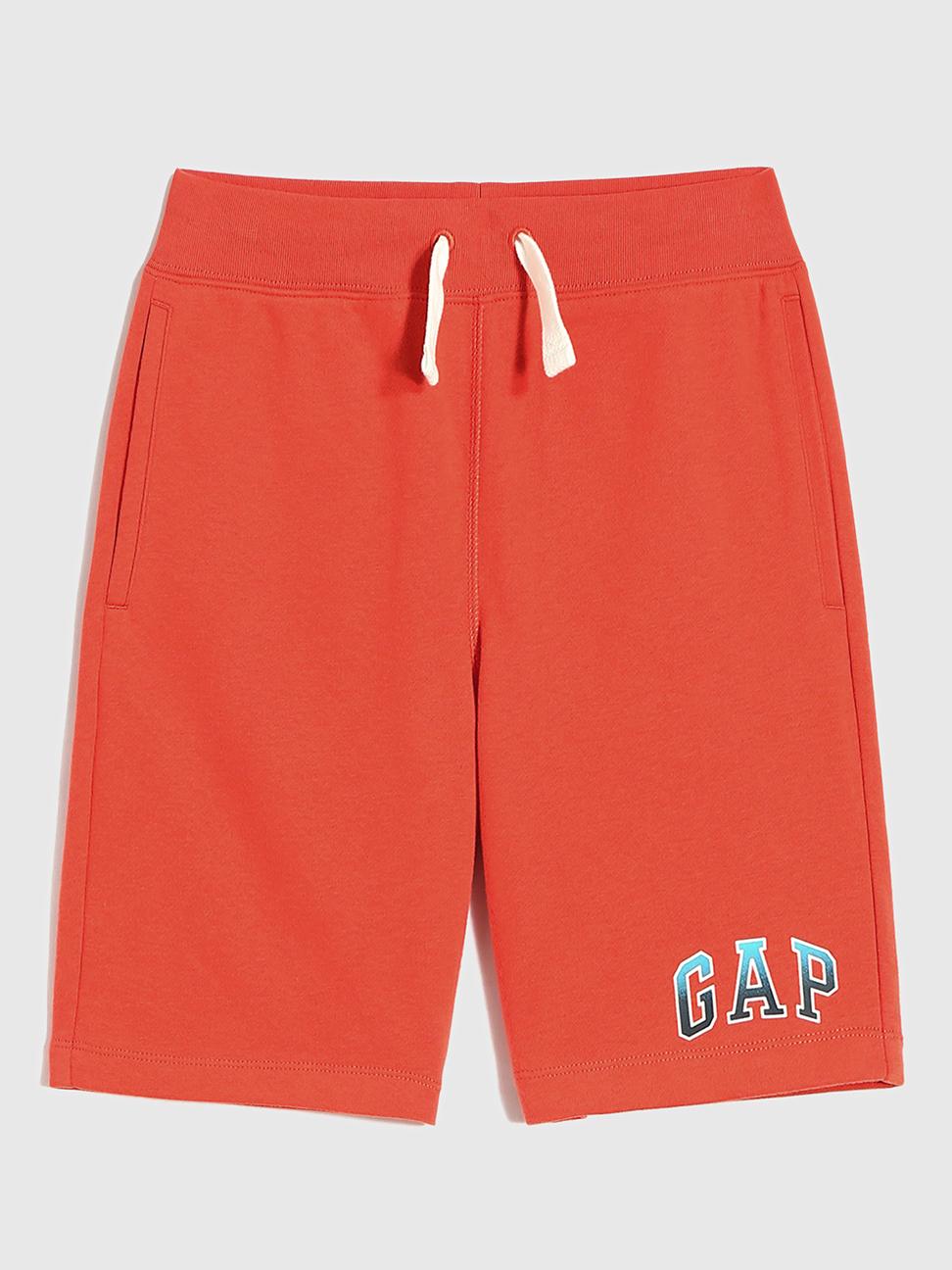 男童 碳素軟磨系列法式圈織 Logo休閒短褲