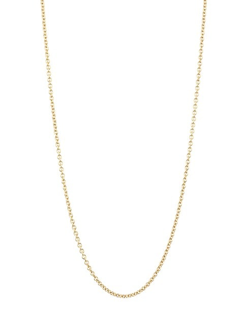 """18K Yellow Gold Belcher-Link Chain Necklace/16""""-20"""""""