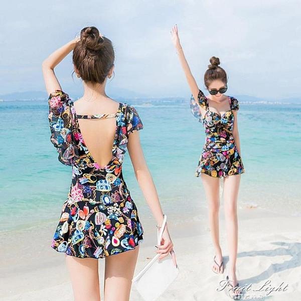 游泳衣女連體遮肚顯瘦保守2020新款韓國ins風溫泉性感仙女范泳裝 果果輕時尚