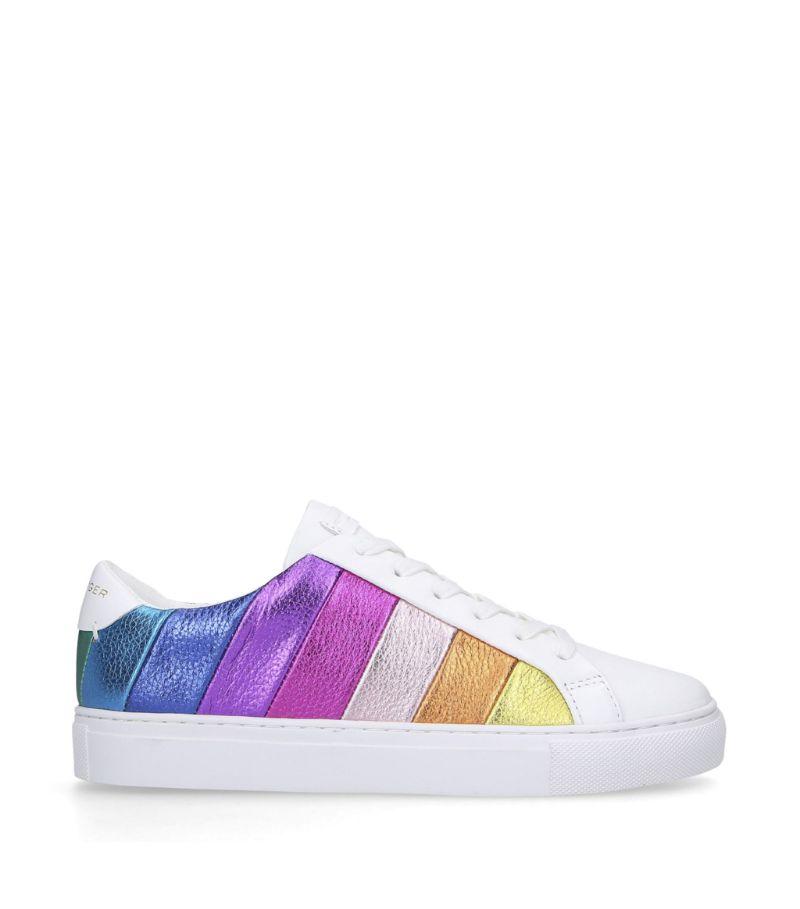 Kurt Geiger London Leather Rainbow Lane Stripe Sneakers