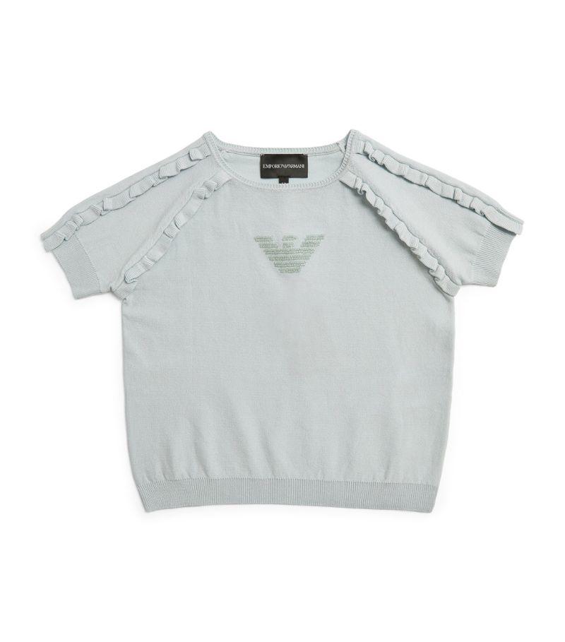 Emporio Armani Kids Eagle Logo Ruffle Sweatshirt (4-16 Years)
