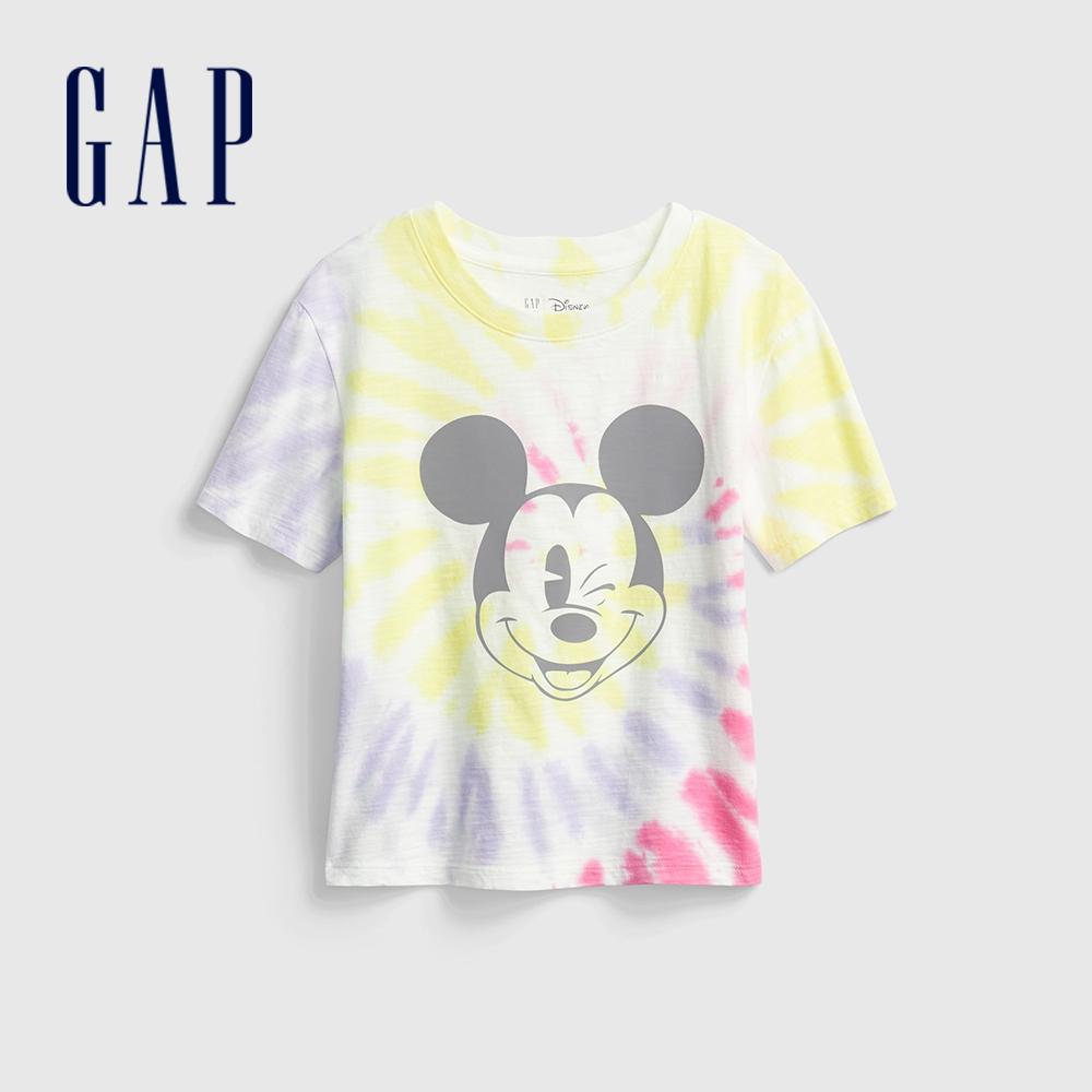 Gap 女童 Gap x Disney 迪士尼系列短袖T恤 811597-彩色紮染