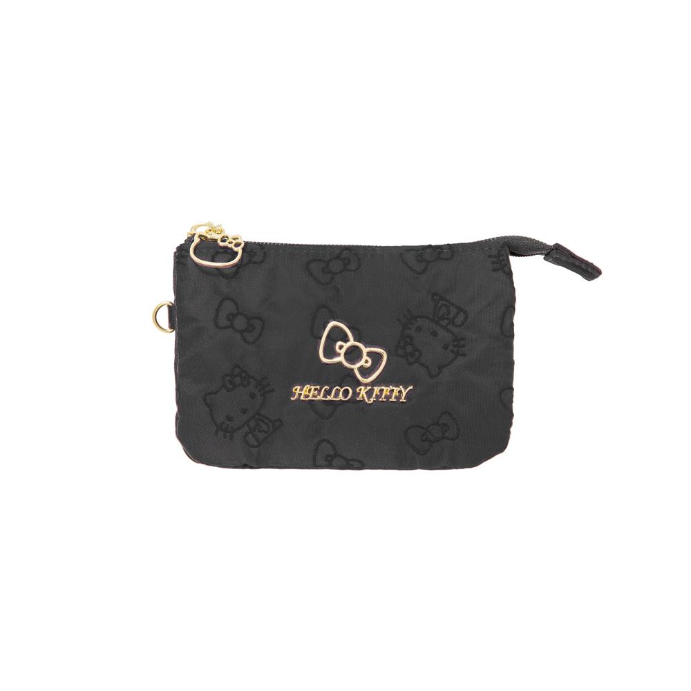 【Hello Kitty】快意之旅-三層零錢包-黑 KT01R09BK