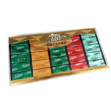 【Andes】安迪士綜合可可薄片造型禮盒236g (12盒/組)