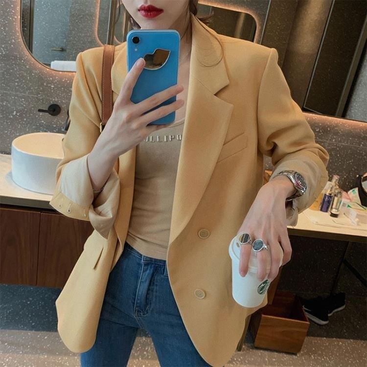 西裝外套 網紅小西裝外套女設計感小眾ins初秋韓版寬松西服上衣女新款