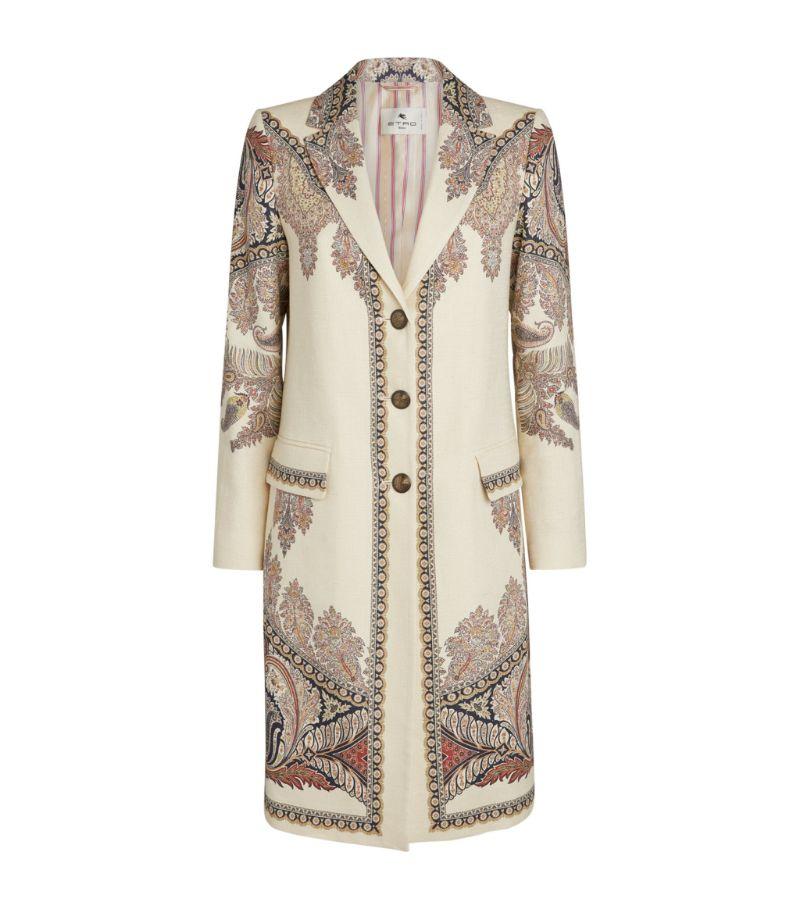 Etro Paisley Button-Down Coat