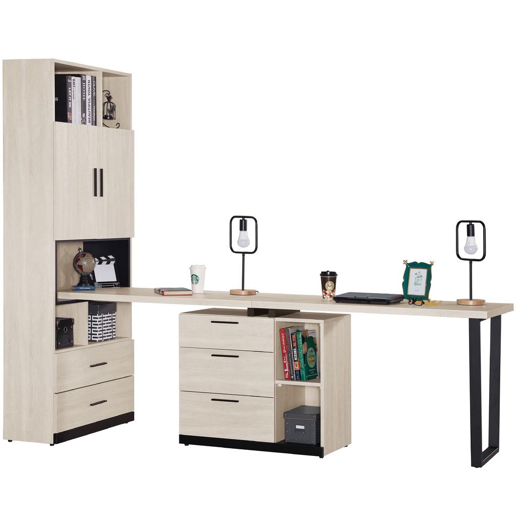 【240cm組合書桌櫃-A506-3】工業風工作桌 書櫃型書桌 書桌加書櫃 【金滿屋】