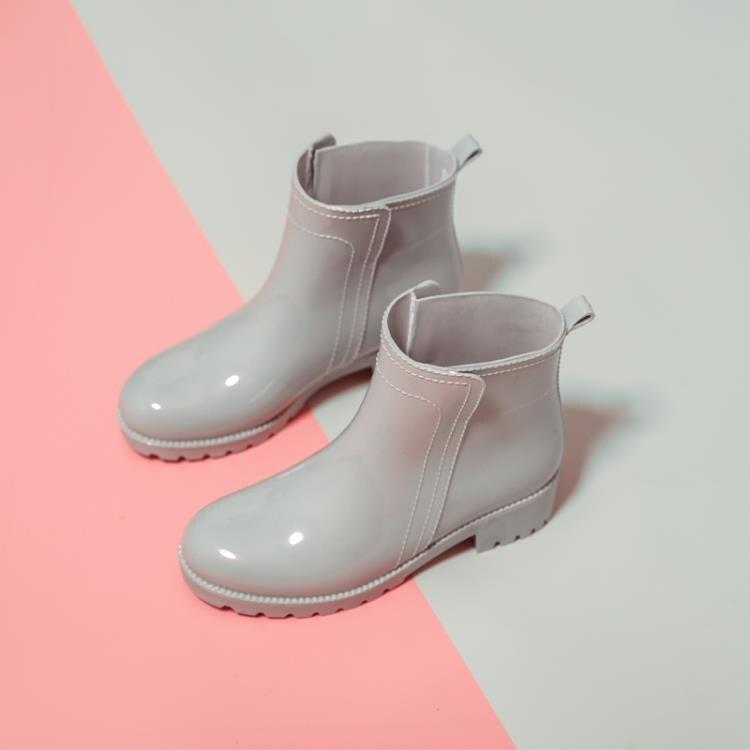 全館免運8折!雨鞋 雨鞋女士防滑雨靴子中短筒時尚款外穿女式廚房膠鞋套鞋低幫防水鞋 -盛行華爾街