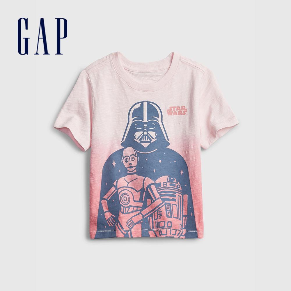 Gap 男幼童 Gap x Star Wars星際大戰系列印花短袖T恤 681426-淺粉色