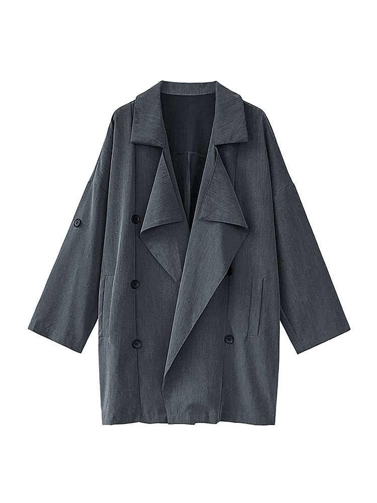 【薄荷小舖】2021春季新款帥氣幹練帥氣西裝軟布開衫外套