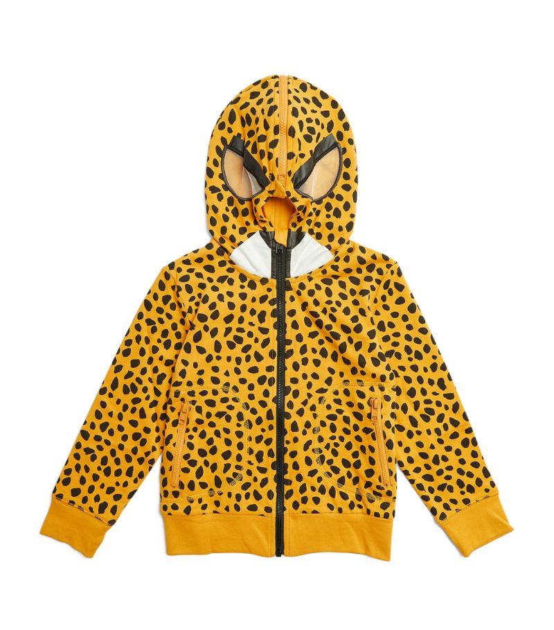 Stella Mccartney Kids Cotton Cheetah Zip-Up Hoodie (4-14 Years)