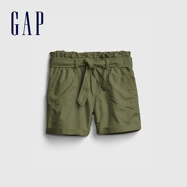 Gap女童 甜美純色直筒休閒褲 670305-綠色