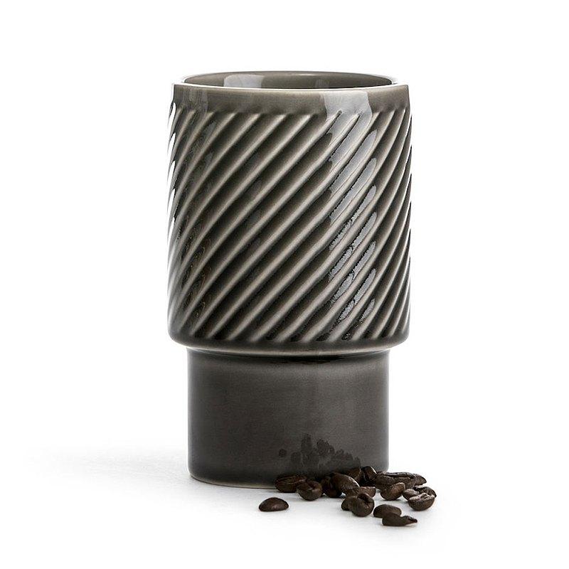 【瑞典Coffee & More系列】拿鐵杯400ml-灰