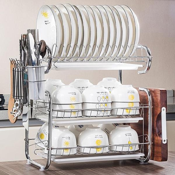 廚房置物架碗碟碗盤收納架晾洗放碗架瀝水架碗柜碗筷放碗收納盒 璐璐生活館