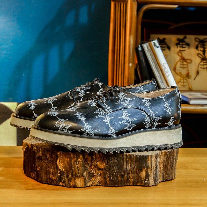 【展示打樣品】純手工訂製 德比鞋-DE02 黑頻率 皮鞋 男 紳士鞋