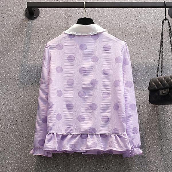 大尺碼長袖襯衫L-4XL春季長袖襯衫X-124MR26韓衣裳